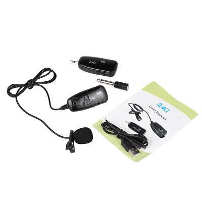 Portable 2.4GHz Wireless Microphone Hands Free Clip-on External Mic for Car Home