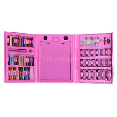 174pcs Deluxe Art Set for Kids with Case Color Markers Pencils Crayons Oil L2V1