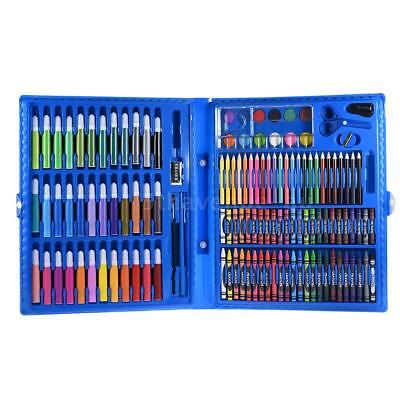 148pcs Deluxe Art Set for Kids with Case Colored Markers Color Pencils D5V6