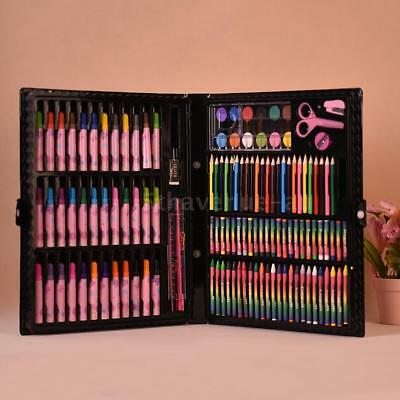 148pcs Deluxe Art Set for Kids with Case Colored Markers Color Pencils S6C6