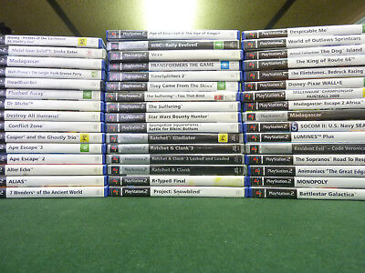 Sony Playstation 2  PS2 Games SOME VERY RARE selling my collection