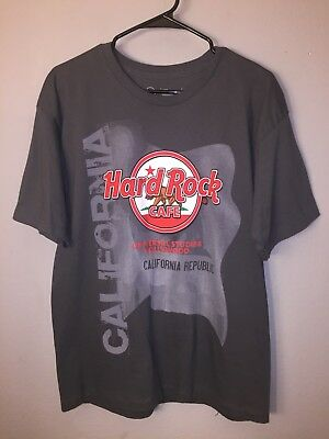 HARD ROCK CAFE universal studios Hollywood California size large Black T Shirt