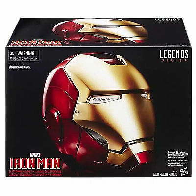 The Avengers Marvel Legends Iron Man Helmet Electronic Christmas Gift Cosplay