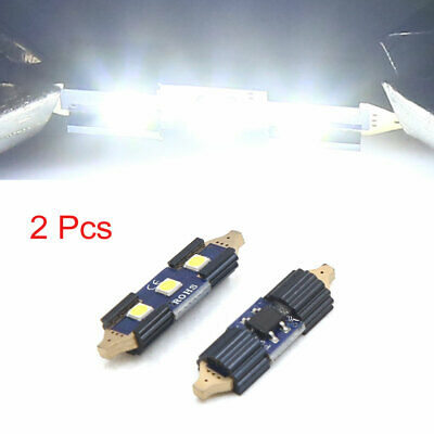 2pcs White 31mm 3 LEDs SMD Car Lights Festoon Interior Dome Map Lamp Bulb