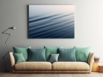 Framed Canvas Stretched Print Water Ripples Blue Surface Liquid
