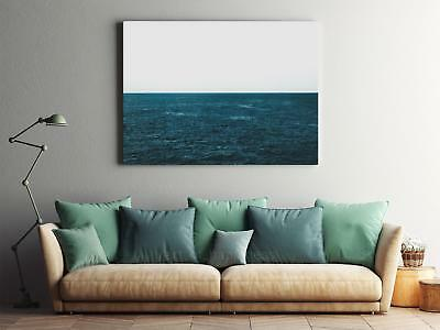 Framed Canvas Stretched Print Ocean Water Blue Surface Ripples