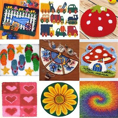 DIY Latch Hook Kits 21 models Needlecrafts  approx 20'' Rug Cute  Carpet