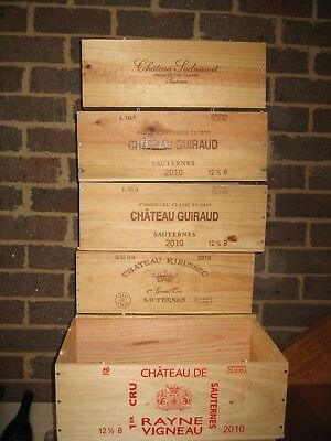 French Wooden Wine Boxes