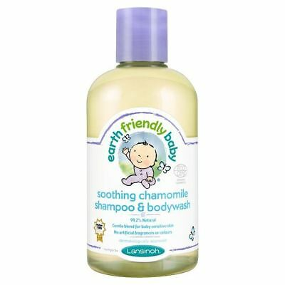 Earth Friendly Baby Soothing Chamomile Shampoo & Bodywash ECOCERT 250ml (6 Pack)