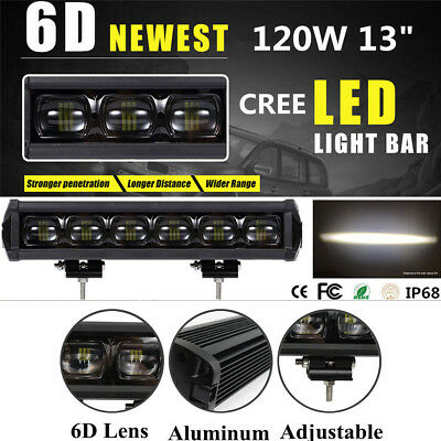 13inch 120W CREE LED Work Light Bar Spot Driving Fog Lamp Offroad 4WD 8D ATV