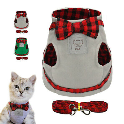 Dog Cat Harness Strap Vest & Leash Comfortable Small Cat Dog Clothes Chihuahua
