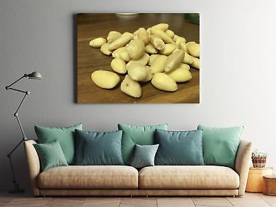 Framed Canvas Stretched Print Almonds Blanched Almonds Blanched