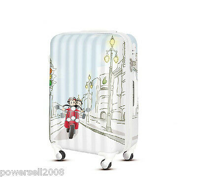 "24"" Cartoon Couples Monkey Universal Wheel ABS+PC Travel Suitcase Luggage LLX"