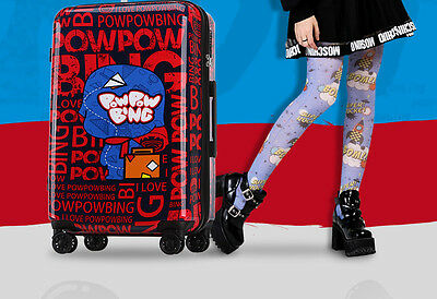 "20"" Red Cartoon Universal Wheel TSA Lock ABS+PC Travel Suitcase Luggage Trolley"