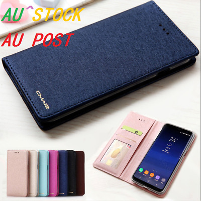 Luxury Slim Wallet Silk Leather Stand Flip Case Cover iPhone X MAX 8 Plus 7 XS 6