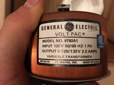 Superior Electric 9T92A1 Volt-Pac Variable Transformer