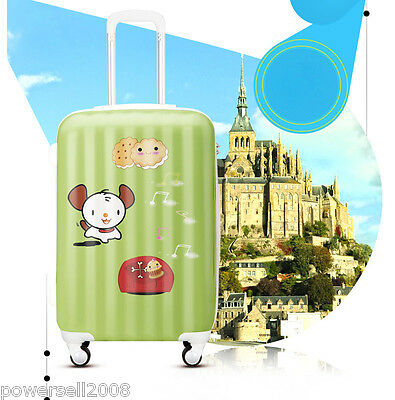 "#4 28"" New Cartoon Little Dog Universal Wheel ABS+PC Travel Suitcase Luggage LLX"