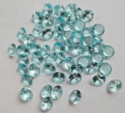 Siberian Blue Aquamarine Quartz Faceted Round 10 MM Loose Gemstone Wholesale Lot