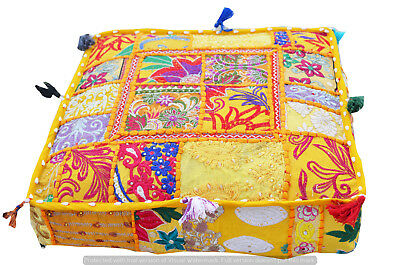 Cool Ottoman Pouf Cushion Pillow Cover Indian Patchwork Floor 16 Gmtry Best Dining Table And Chair Ideas Images Gmtryco