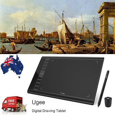 "Ugee 10 x6"" Digital Graphics Drawing Tablet PC Artist Board Pad Painting 5080LPI"