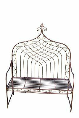 Remarkable Elizabethan Style Hign Back Folding Metal Garden Bench In Theyellowbook Wood Chair Design Ideas Theyellowbookinfo