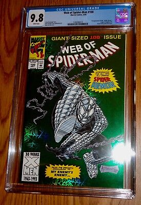 Web Of Spiderman # 100 (CGC 9.8 ) White Pages