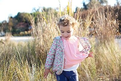 Baby Gap 3t toddler girl pink blouse bohemian embroidered Spring long sleeve