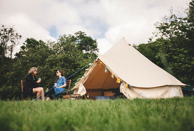 4m ZIG Bell Tent with Fireproof Stove Hole by Bell Tent Boutique
