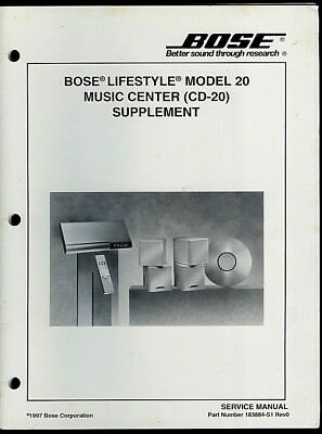 bose service manual lifestyle 40 50 music system c1 cd changer rh picclick com bose lifestyle 20 music center service manual bose lifestyle 20 music center service manual