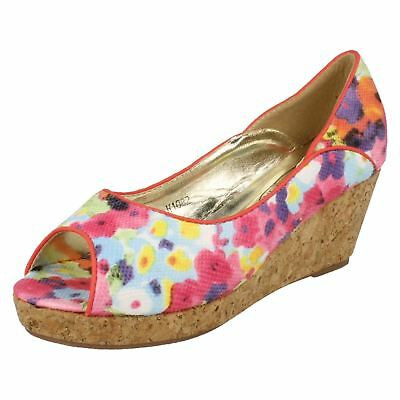 Spot On Girls Low Wedge Sandals