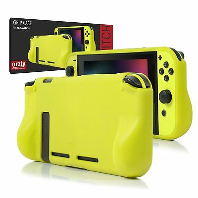Comfort Grip Case For Nintendo Switch - NEON YELLOW By Orzly