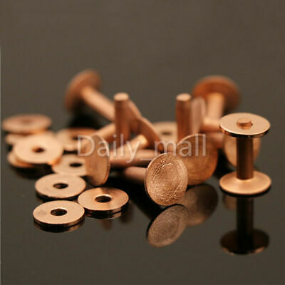 """Copper Rivets & Burrs 1/2"""" Leather Craft Belt Luggage Hardware Accessories"""