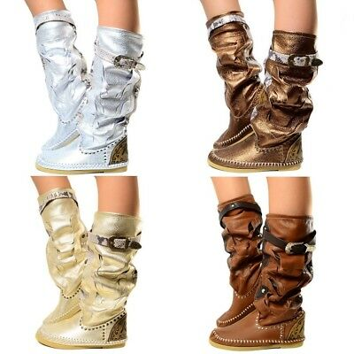 DAMEN INDIANER STIEFEL Ibiza Ankle Boots MADE IN ITALY