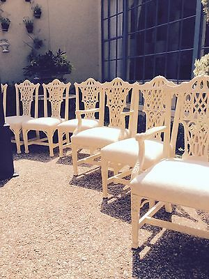 Vintage Chinese Chippendale dining chairs  / Century Furniture Company