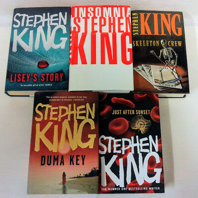 Five UK First Edition titles by Stephen King in Hardback