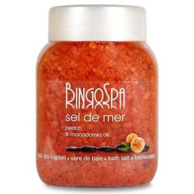 BingoSpa Slimming and Anti Cellulite Bath Salt Peach Macadamia Oil 1350g