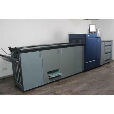 Minolta Bizhub PRESS C1085 Farb Produktionssystem + Broschürenfinisher SD-506