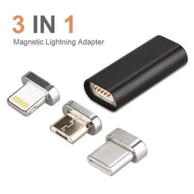 3 in 1 Magnetic Adapter Lightning Charger Converter For Android/iPhone/Type C