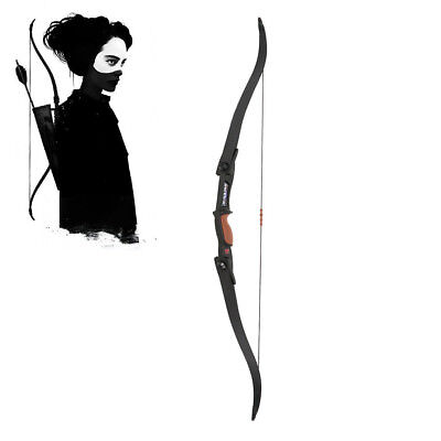 Recurve Bow left Handed 25-30lb Black Left & Right Outdoor Hunting Games