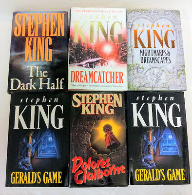 Six UK First Edition titles by Stephen King in Hardback