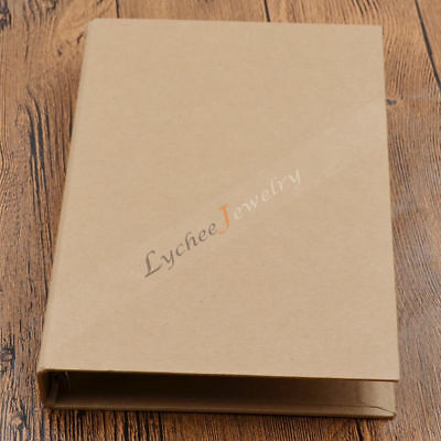 A5 Kraft Paper Cover 6 Hole Binder Folder File for Journal Note Book Diary