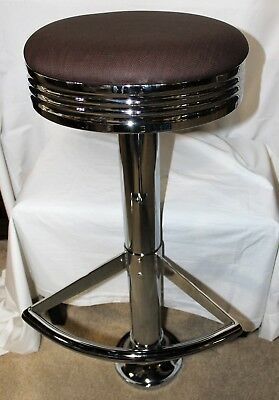 Restaurant Bar Stool Swivel Retro Diner Kitchen Game Room Basement 2 per box