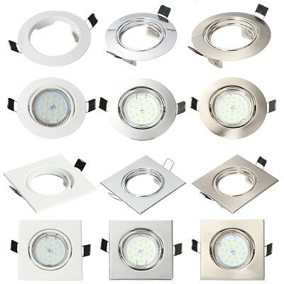 4/10x LED GU10 Downlights Ceiling Lamp Holder Fitting Fixture Recessed Spotlight
