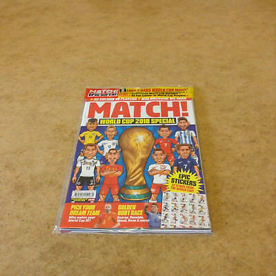 Match! World Cup 2018 Special Road To Russia 2018 Guide Wall Chart Stickers New
