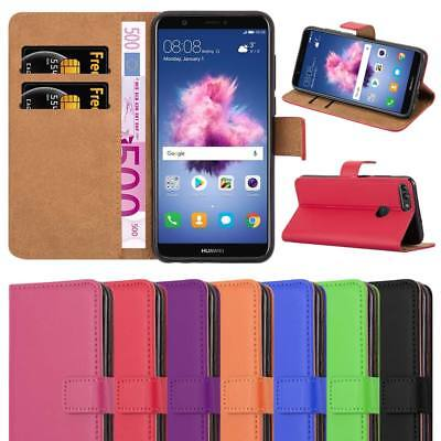 For Huawei P Smart Case, Leather Wallet Book Flip Pouch Card Case Cover
