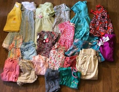baby girls spring summer clothes dresses outfits sz 12-18 months lot of 21