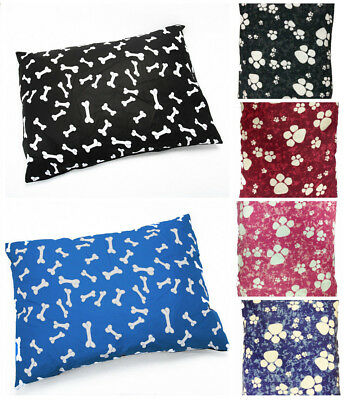 Dog Pet Bed Pillow Cushion with Removable Zipped Cover washable Pet Dog