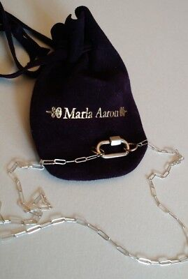 Marla Aaron Sterling Silver Babylock, 18 inch Sterling Silver Square-link Chain