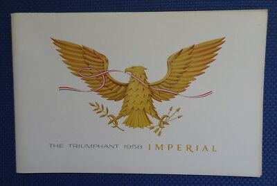1958 Chrysler IMPERIAL Color Sales Brochure - MINT ORIGINAL New Old Stock