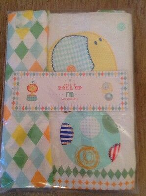 Mothercare Roll Up  Roll Up  Pack Of 2 Cot Pockets...Bnip
